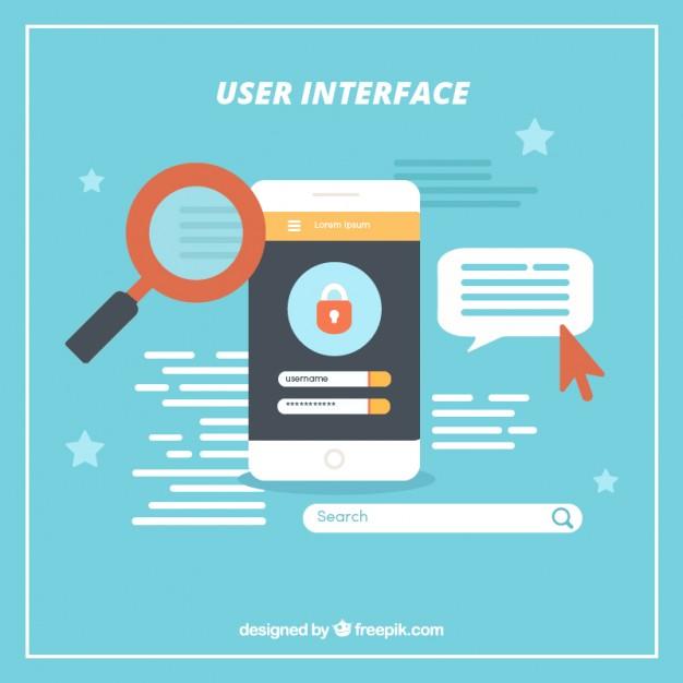 l'interface utilisateur représenté par une image