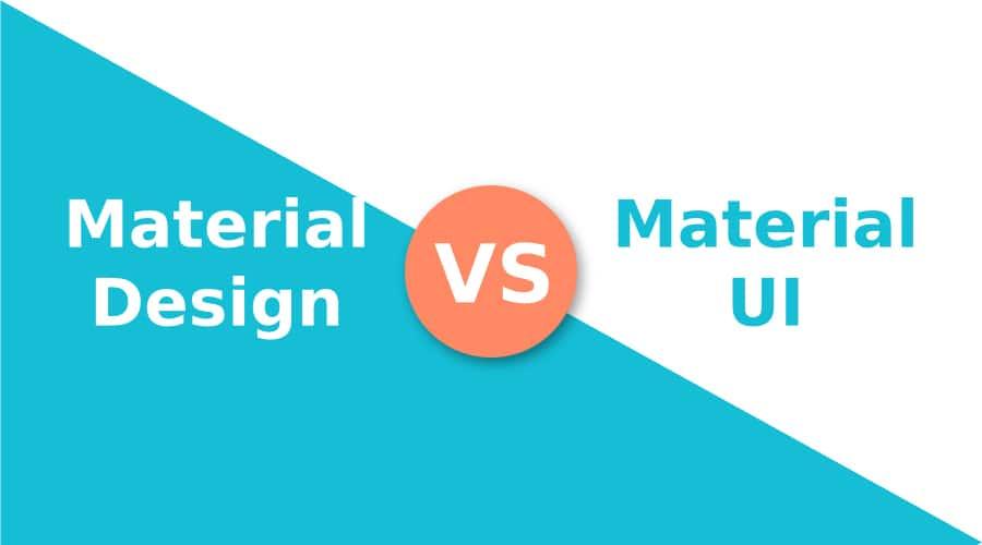 Illustration du material design contre le material UI