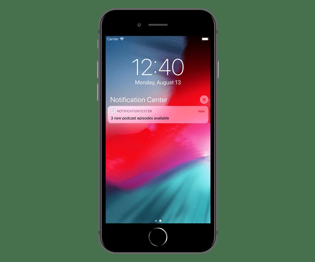 notification téléphone