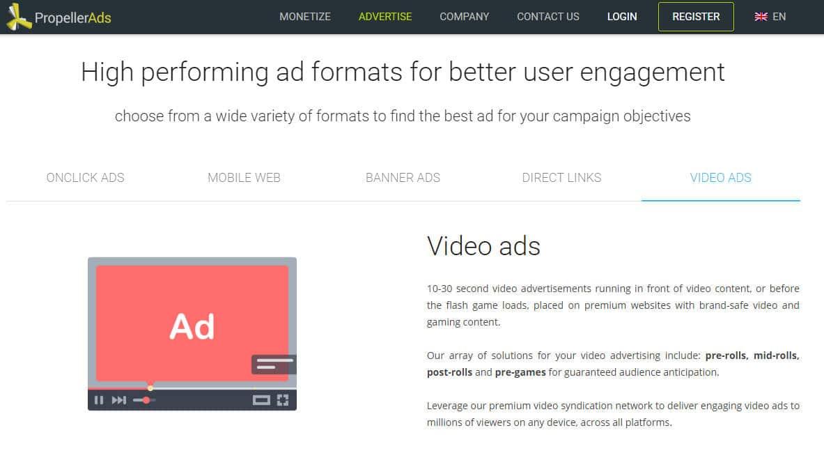 publicité vidéo pour application