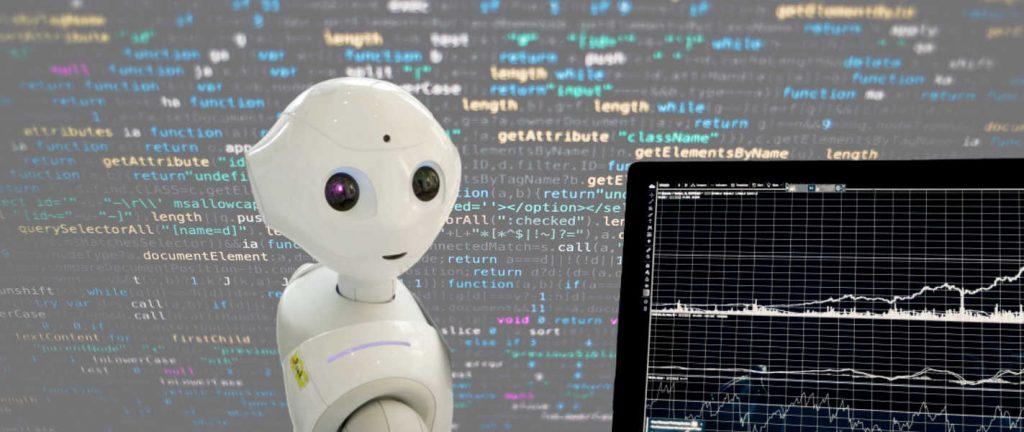 un robot représentant les domaines d'exemple de l'intelligence artificielle
