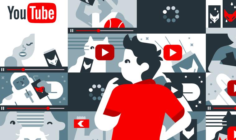 homme devant l'algorithme de youtube apres moderation via l'IA