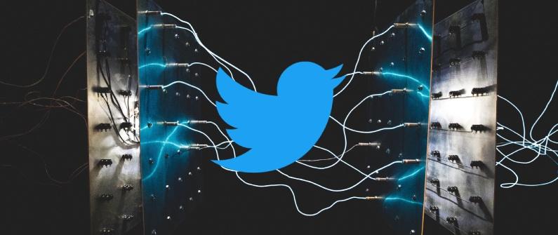 logo de twitter avec des machines IA pour prouver l'exemple