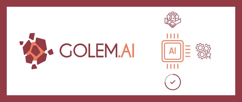 Exemple d'IA de Golem.AI avec logo et son utilisation