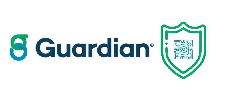 intelligence artificielle de guardian life avec logo et pictogramme IA