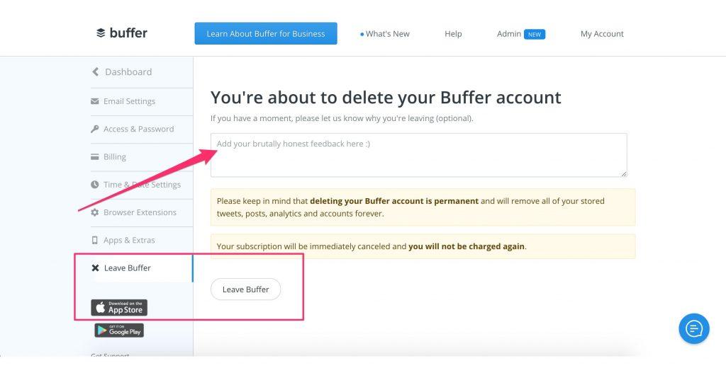 Gestion de données RGPD - Le cas Buffer