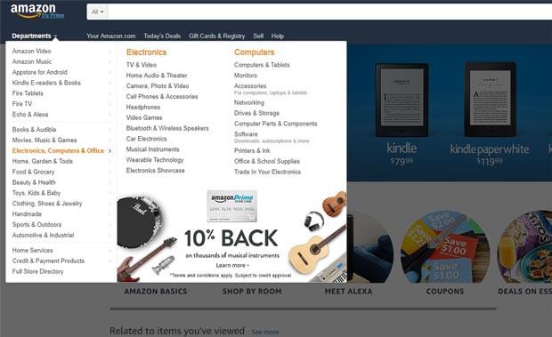 UX Design et Ecommerce - Le menu