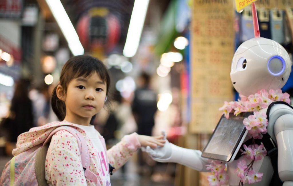 humain et robot main dans la mains pour l'ia rh