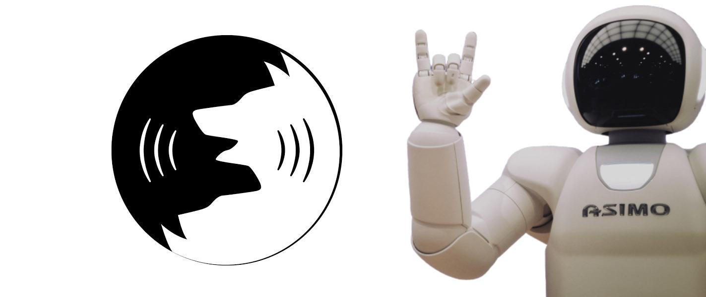 logo zoolingua et robot ia pour comprendre l'exemple d'intelligence artificielle